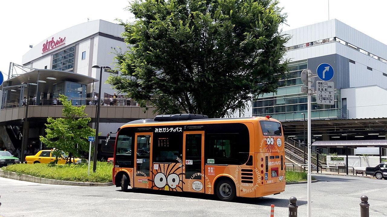 三鷹市のシティバスはポキとジブリのイラスト