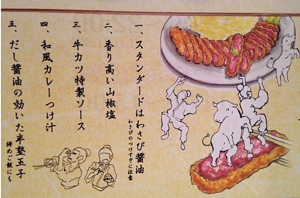 吉祥寺サンロードの京都勝牛は2階