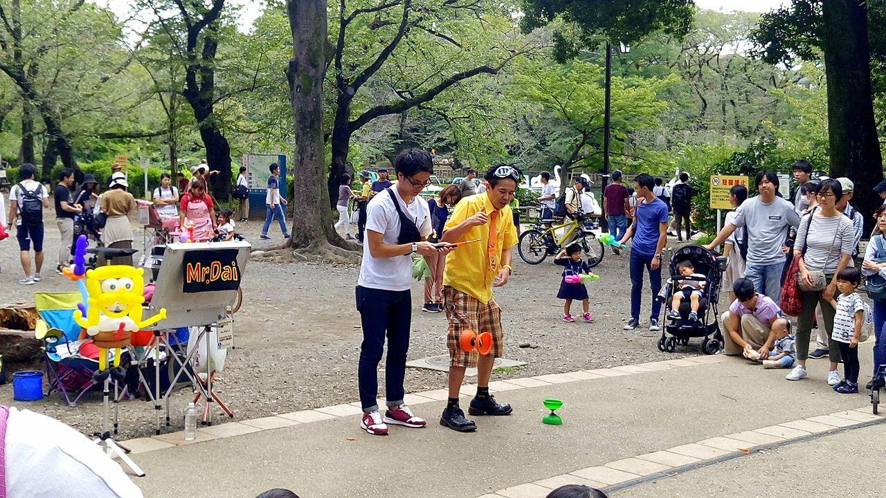 井之頭公園のパフォーマンスは面白い