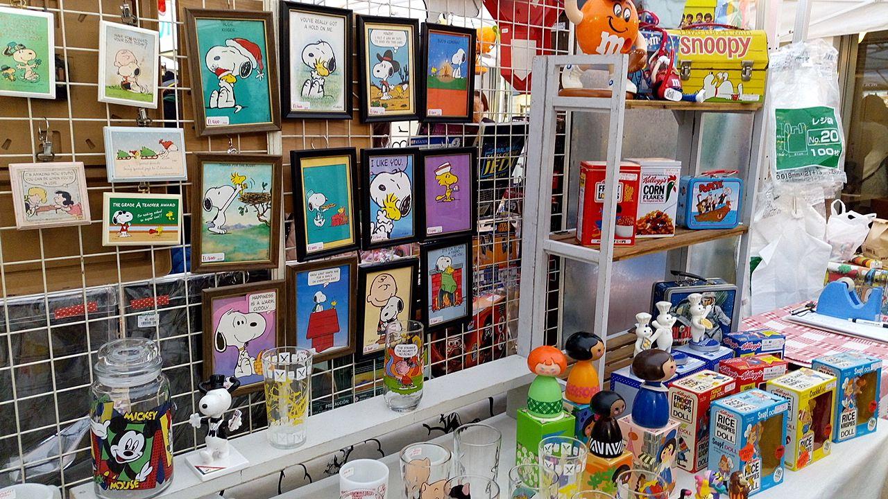 吉祥寺で開かれたKNICK KNACK`Sのスヌーピーコーナー