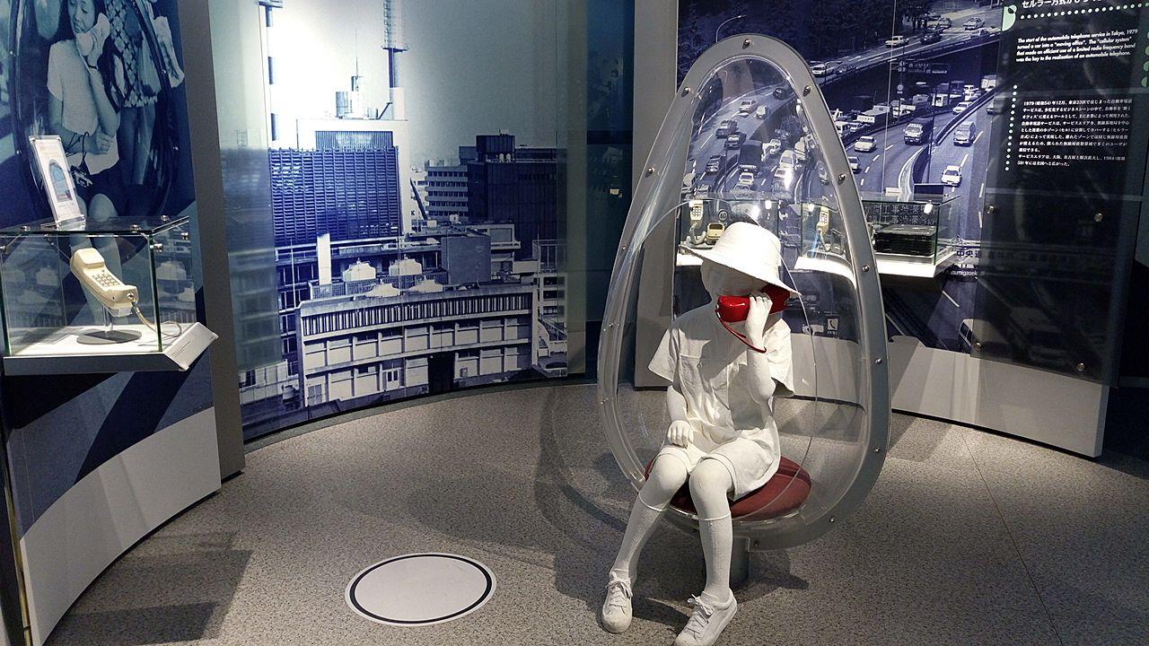NTT技術史料館のワイヤレスフォン