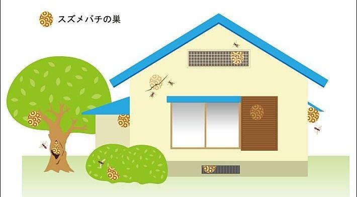 怖いスズメバチ。武蔵野市は助成金で駆除できます