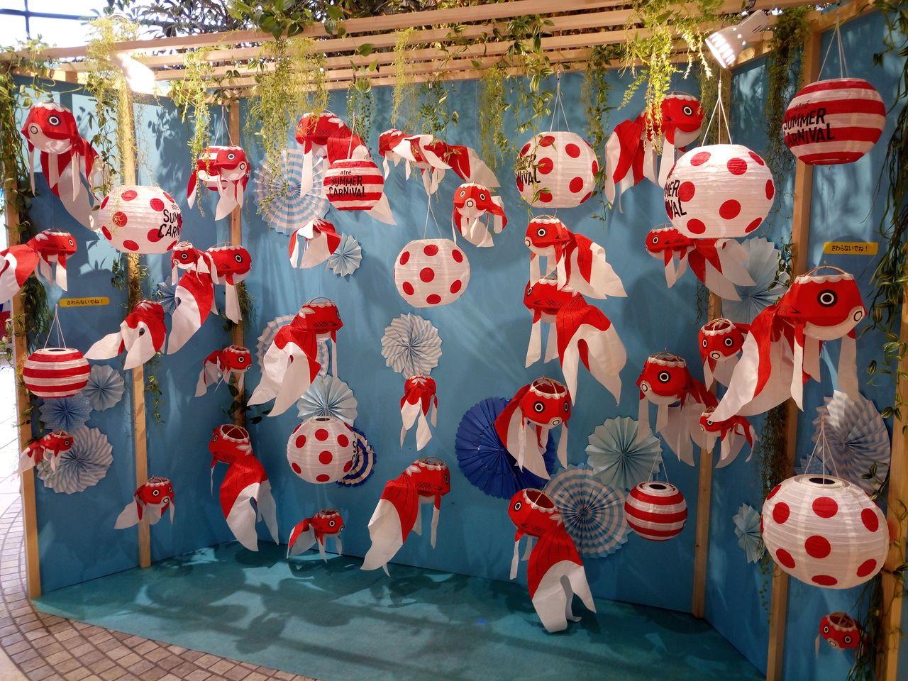 吉祥寺アトレのはなびの広場は山口県柳井市の金魚
