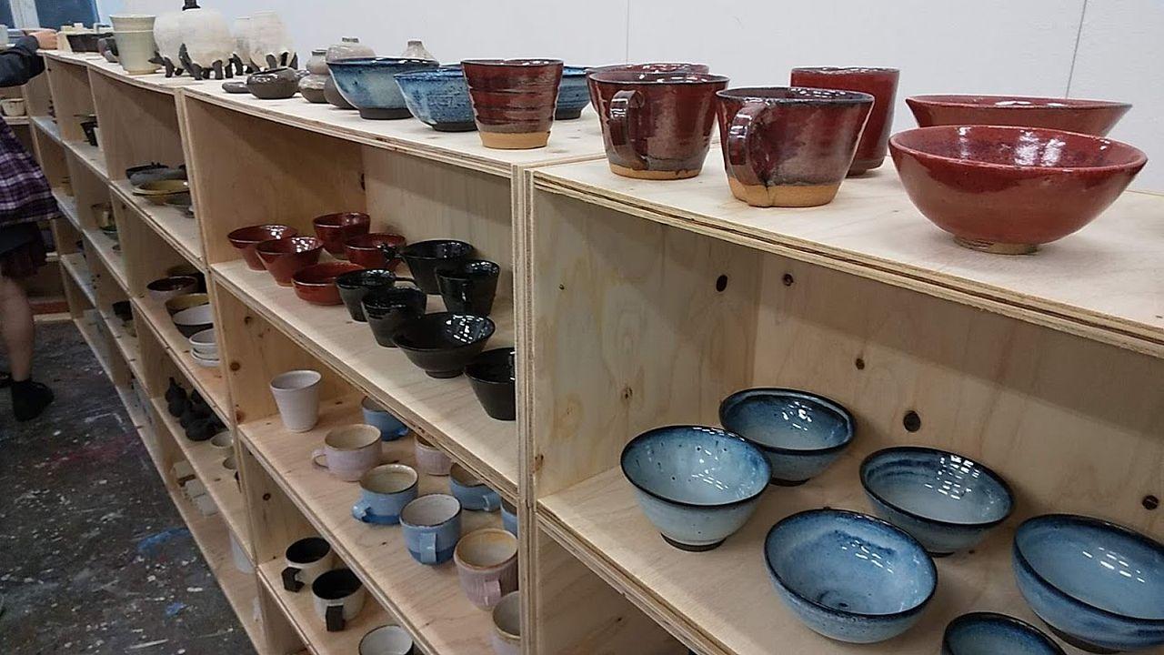 10号館で販売されている陶器