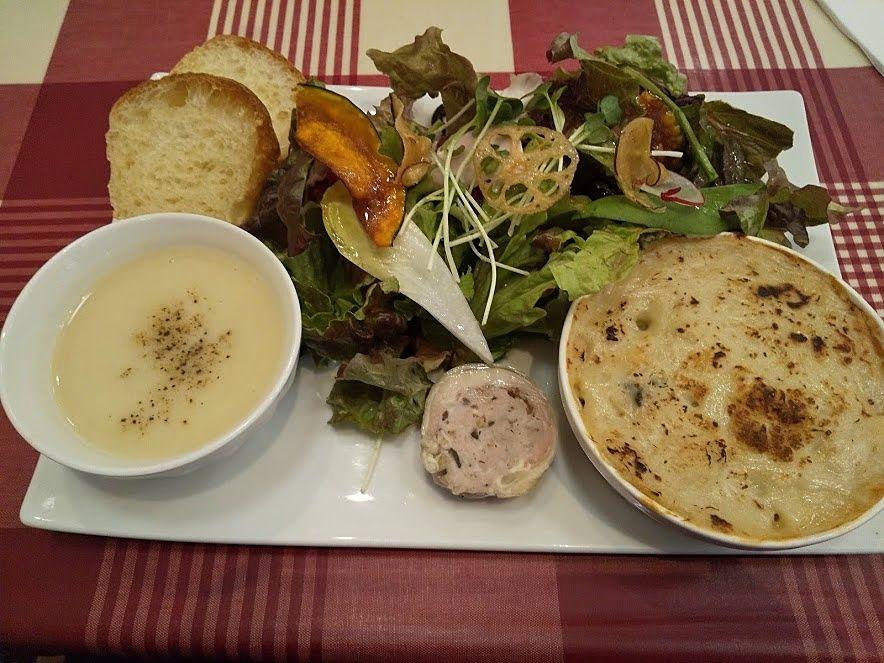 本日のランチプレート牡蠣のグラタン、吉祥寺フレンチレストラン