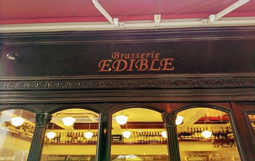 ブラッスリー・エディブルはフランスの粋なレストランのよう