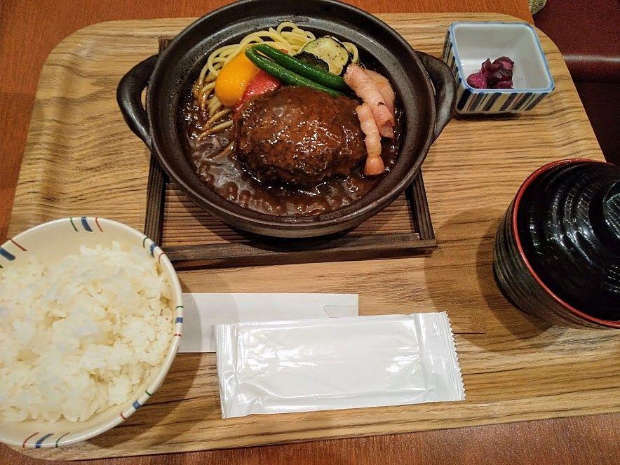 JR中央線吉祥寺の大野屋の煮込みハンバーグ