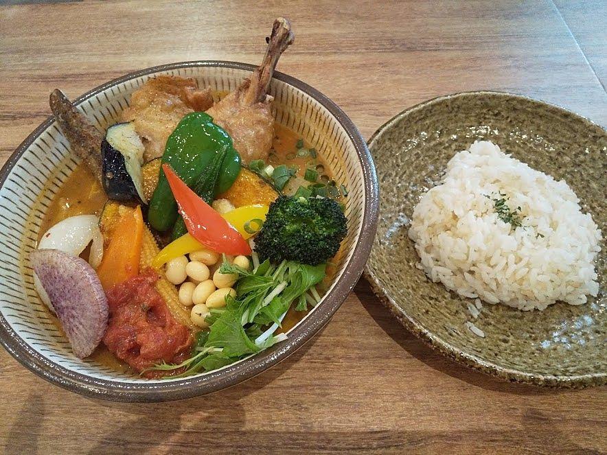 チキンと一日分野菜カレー、吉祥寺侍カレー