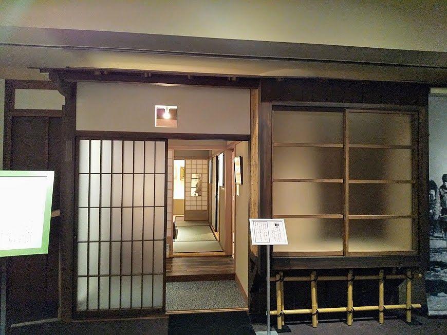太宰治展示室、三鷹の此の小さい家玄関