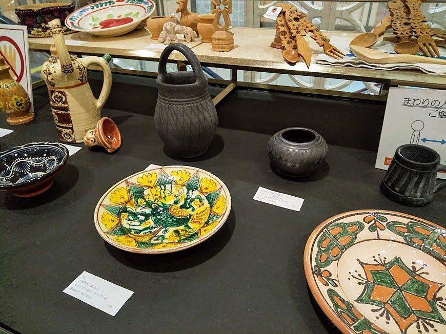 ルーマニアの陶器の数々