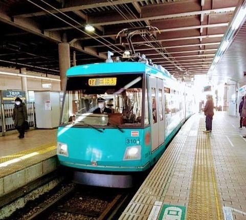 世田谷線上高井戸駅が始発です