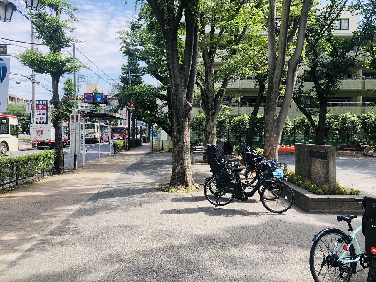 武蔵野市、中央通り公園