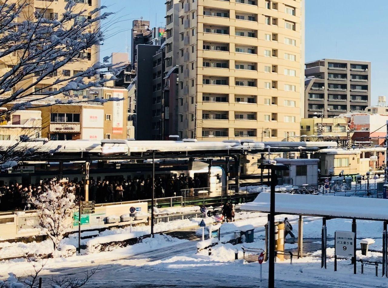 2018年1月23日三鷹駅