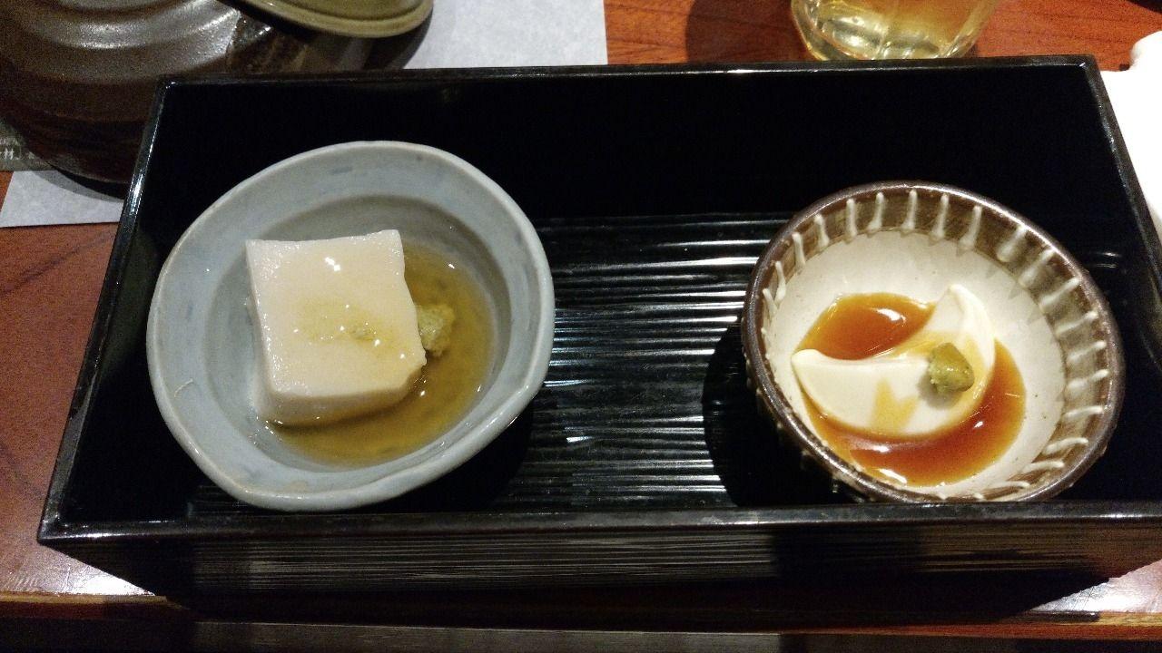 前菜には豆腐料理も出ます