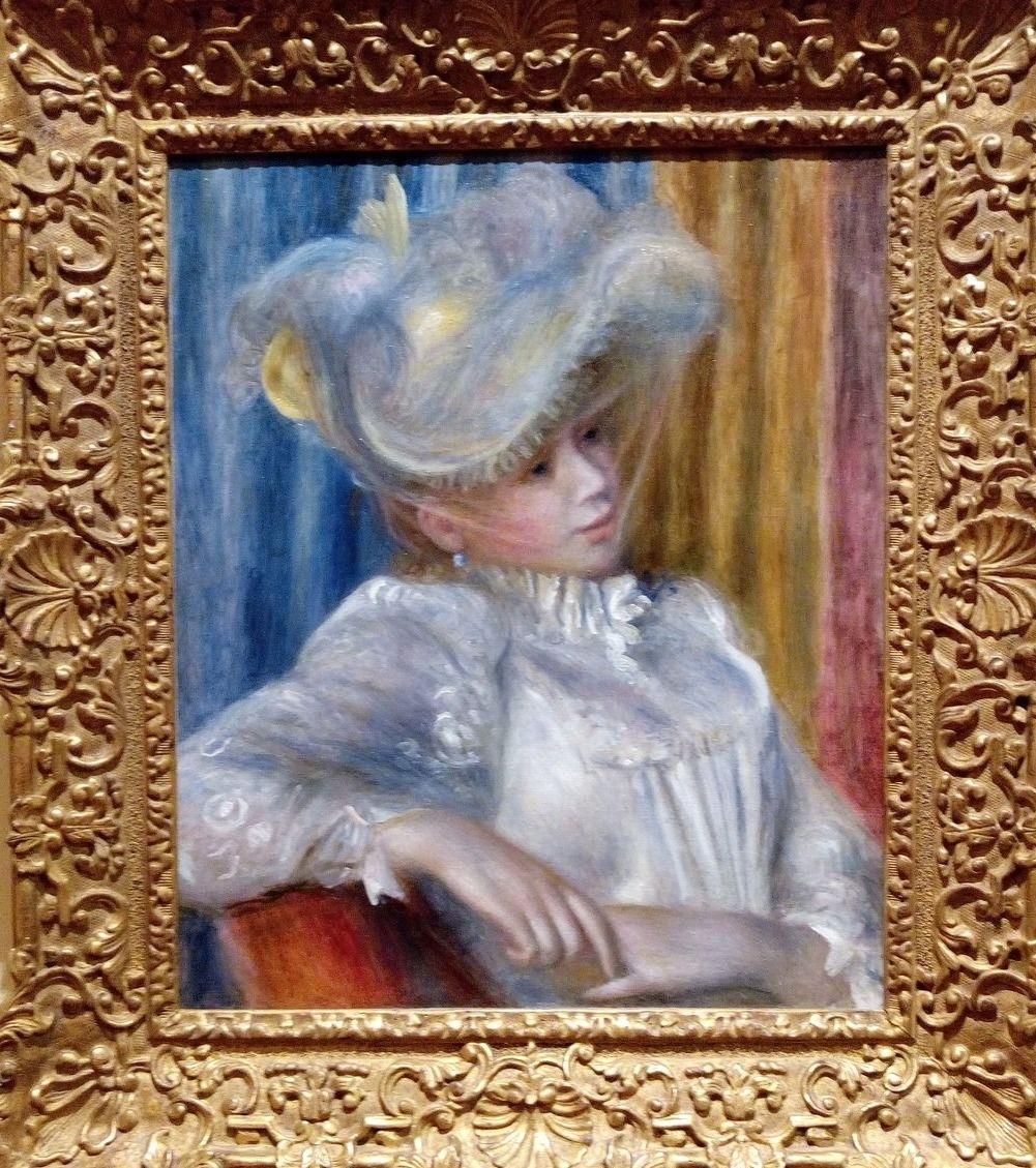 オーギュスト・ルノワール帽子の女